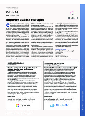 Superior quality biologics