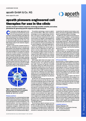 apceth pioneers engineered cell therapies for use in the clinic