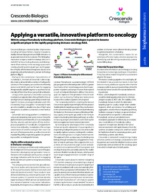 Applying a versatile, innovative platform to oncology