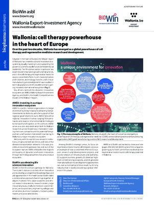 Wallonia: cell therapy powerhouse in the heart of Europe
