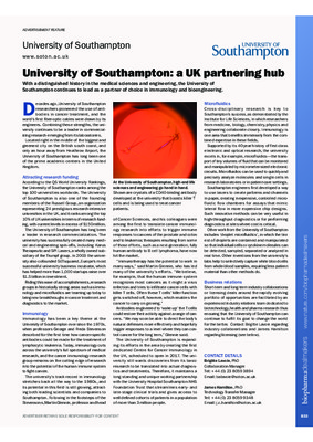University of Southampton: a UK partnering hub