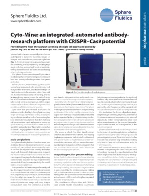 Cyto-Mine: an integrated, automated antibodyresearch platform with CRISPR–Cas9 potential