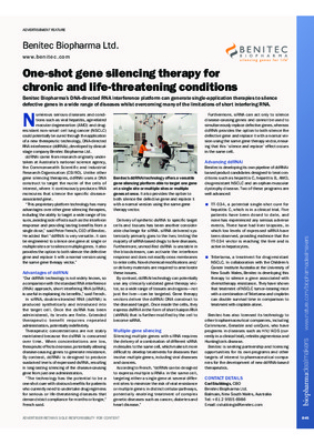 One-shot gene silencing therapy for chronic and life-threatening conditions