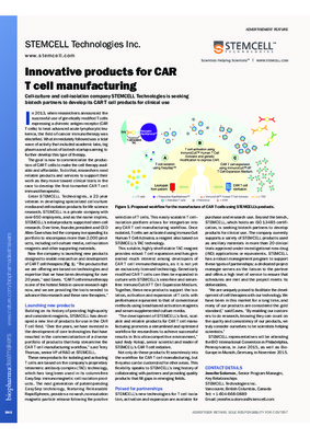 Innovative products for CAR T cell manufacturing
