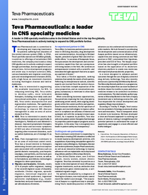 Teva Pharmaceuticals: a leader in CNS specialty medicine