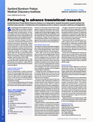 Partnering to advance translational research