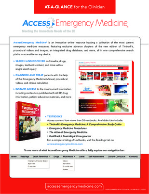 AccessEmergencyMedicine - Clinician At-a-Glance Guide