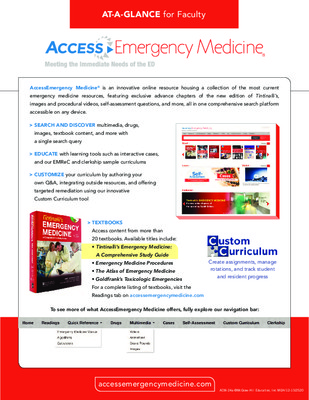 AccessEmergencyMedicine - Faculty At-a-Glance Guide