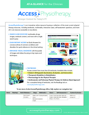 AccessPhysiotherapy - Clinician At-a-Glance Guide