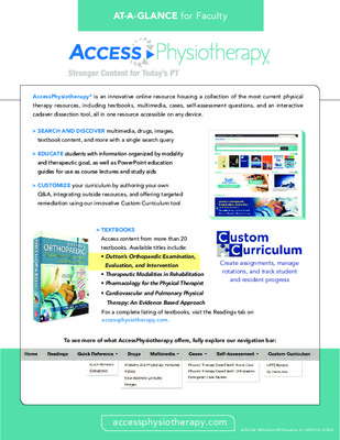 AccessPhysiotherapy - Faculty At-a-Glance Guide