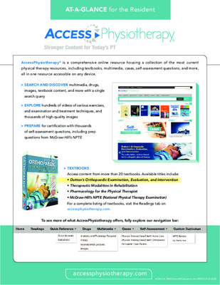 AccessPhysiotherapy - Resident At-a-Glance Guide