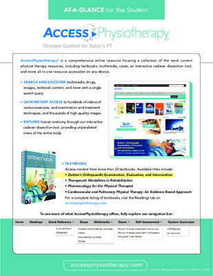 AccessPhysiotherapy - Student At-a-Glance Guide