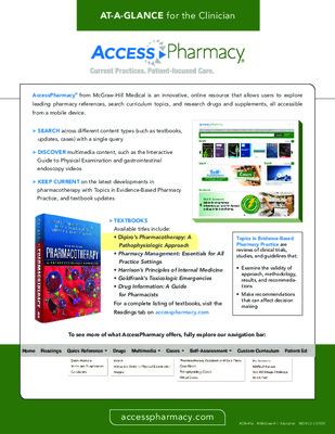 AccessPharmacy - Clinician At-a-Glance Guide