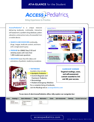 AccessPediatrics - Student At-a-Glance Guide