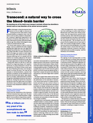 Transcend: a natural way to cross the blood–brain barrier