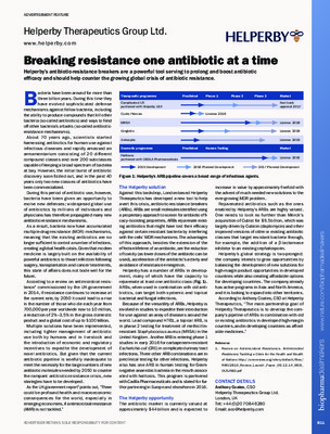 Breaking resistance one antibiotic at a time
