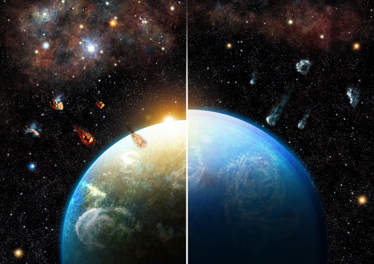 Two emergent faces of rocky planetary systems