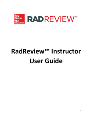 RadReview Instructor User Guide_Jan 2020