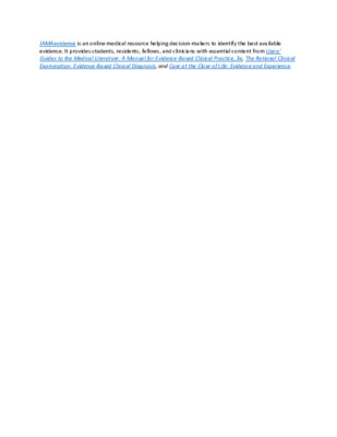 LibGuide  Database Description - JAMAevidence