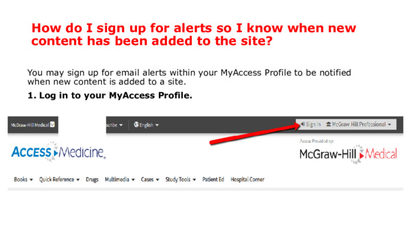 How do I sign up for alerts so I know when new content has been added to the site?