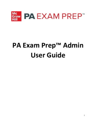 PA Exam Prep Admin User Guide