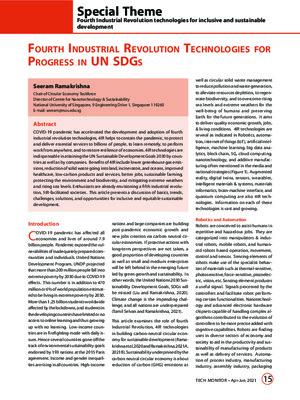 Fourth Industrial Revolution Technologies for Progress in UN Sustainable Development Goals